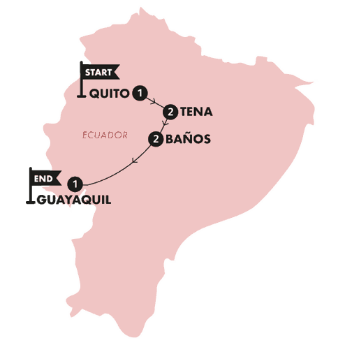 The Lava Line(Twin Room,Start Quito, End Guayaquil)