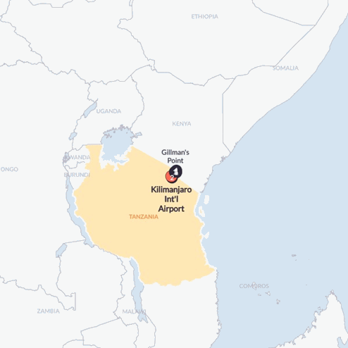 Rongai Kili Climb(Twin Room,Start Kilimanjaro Int'l Airport, End Kilimanjaro Int'l Airport)