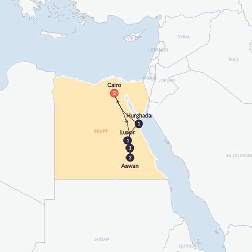 Egypt & The Nile(Twin Room,Start Cairo, End Cairo)