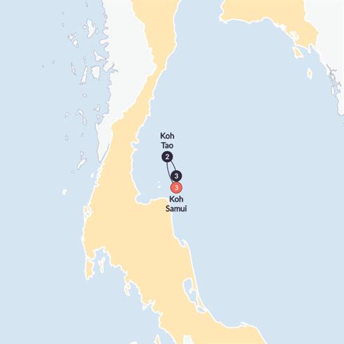 Thai Island Hopper East(Twin Room,Start Koh Samui, End Koh Samui)