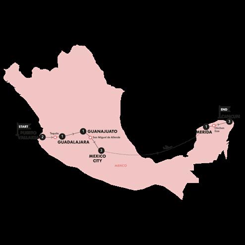 Mexico Grande (Until Feb 2021)(Twin Room,Start Puerto Vallarta, End Mexico City)