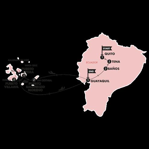 Ecuador & Galapagos Island Hopper(Twin Room,Start Quito, End Guayaquil)