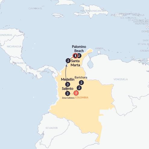 Hola Colombia(Twin Room,Start Bogota, End Santa Marta)