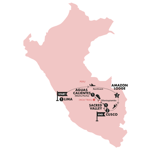 Peruvian Highlights(With Inca Trail Trek,Start Lima, End Cusco)