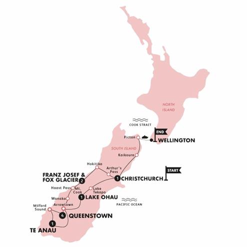 'Sweet as' South (End Wellington)(Multi Share,Start Christchurch, End Wellington)