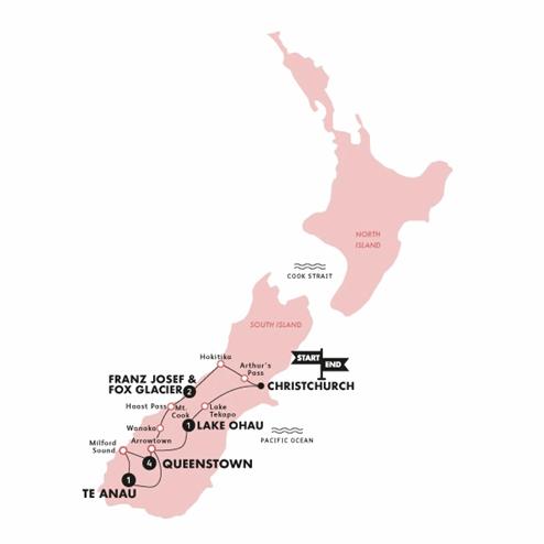 'Sweet as' South (Reverse)(Multi Share,Start Christchurch, End Christchurch)