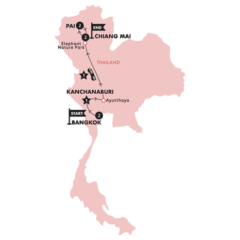Northern Thai Highlights (Until Mar 2020)(Twin Room,Start Bangkok, End Chiang Mai)