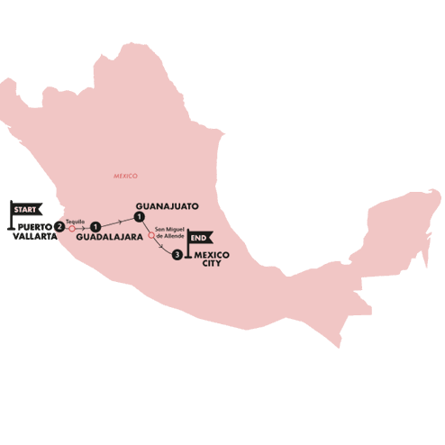 Mexican Fiesta(Twin Room,Start Puerto Vallarta, End Mexico City)