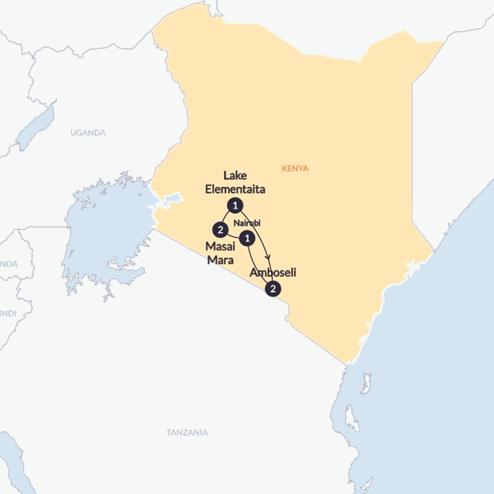 Kenyan Highlights(Twin Room,Start Nairobi, End Nairobi)
