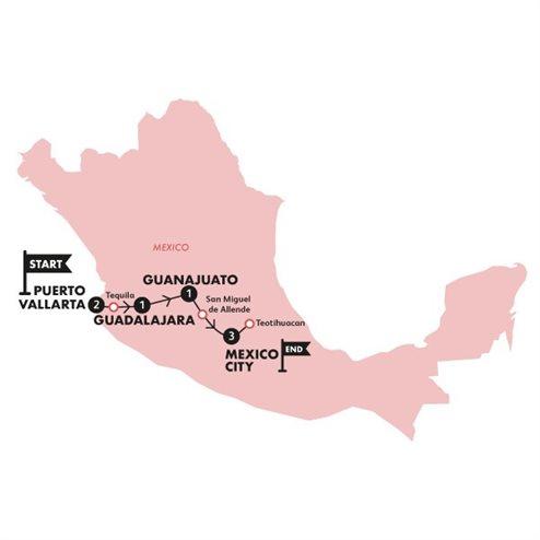 Mexican Fiesta(Twin Room,Start Puerto Vallarta, End Cancun)