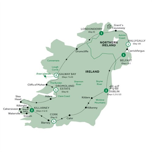 Country Roads of Ireland - end Dublin, Summer 2019