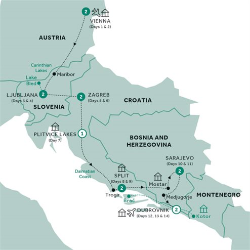 Eastern Capitals & the Dalmatian Riviera (Summer 2019)