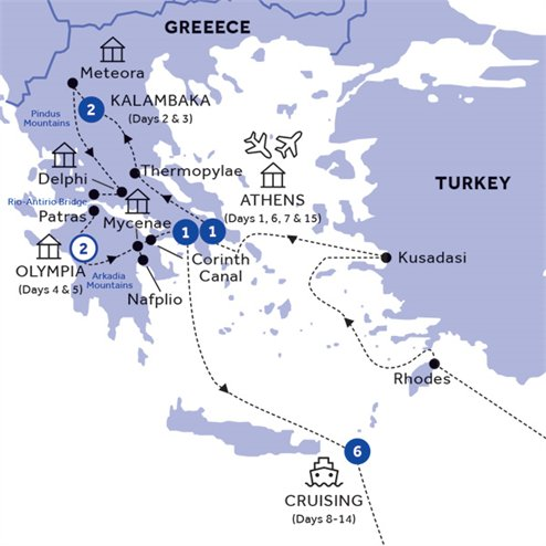 Glories of Greece & Three Continents Cruise Standard (Winter 2019 2020)