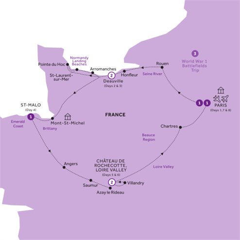 Normandy, Brittany & the Loire Valley - Summer 2020