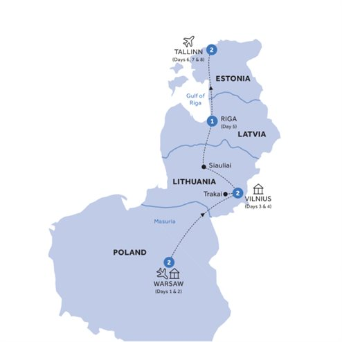 Warsaw & the Baltic States - Summer 2020
