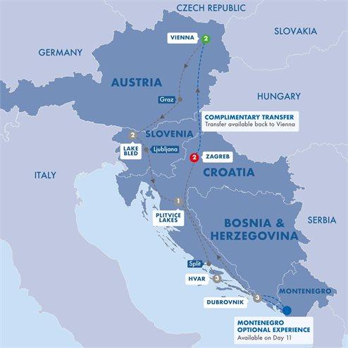 Highlights of Austria Slovenia and Croatia