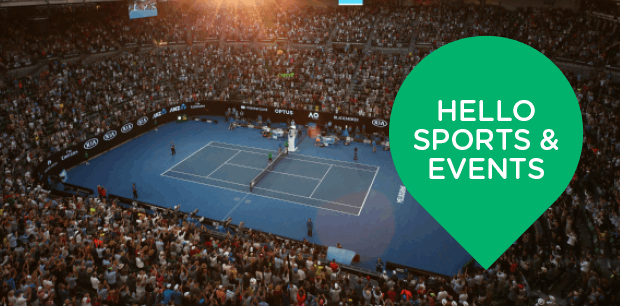 Sports and Events Packages on Sale!