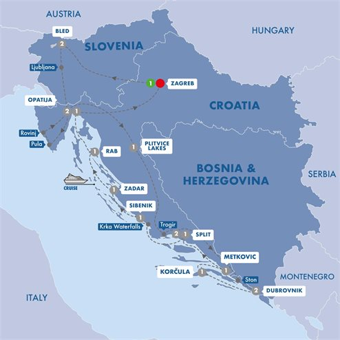 Best of Croatia and Slovenia with Pearls of the Adriatic Upper Deck