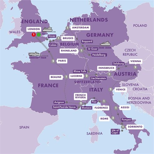 Grand European with Eurostar