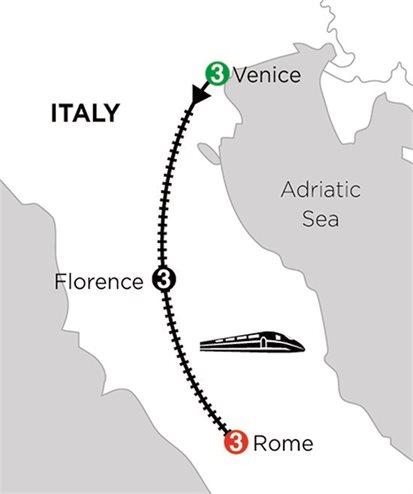 VENICE, FLORENCE & ROME (3 NTS VENICE + 3 NTS FLORENCE + 3 NTS ROME)