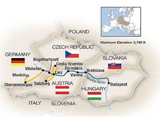 Savor, Blue Danube with Oberammergau ex Munich to Budapest ...