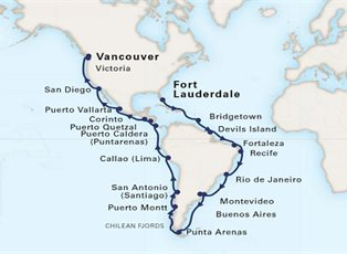 f2c40e505cec Koningsdam, Voyage of the Americas ex Ft Lauderdale to Vancouver ...