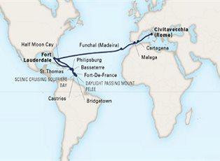 Koningsdam, Page to America & Southern Caribbean Wayfarer ... on