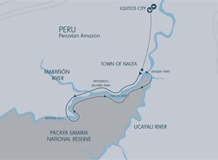 Aria Amazon, Amazon River Discovery (Low Water) ex Iquitos Return
