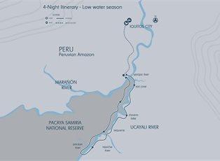 Aria Amazon, Amazon River Explorer (Low Water) ex Iquitos Return