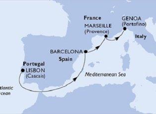 Splendida, Portugal Spain France Italy ex Lisbon to Genoa