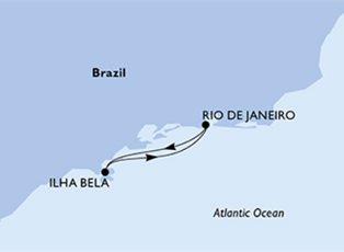 Preziosa, South America ex Rio De Janeiro Return
