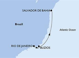 Preziosa, South America ex Rio de Janeiro to Salvador