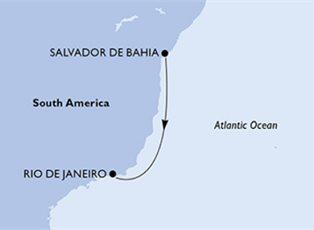 Preziosa, South America ex Salvador to Rio de Janeiro