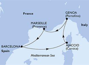 Preziosa, Mediterranean ex Genoa Return