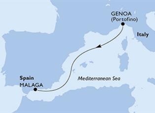 Virtuosa, Mediterranean Cruise ex Genoa to Malaga