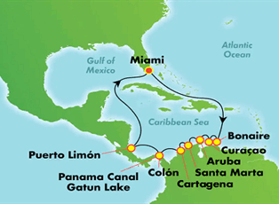 Encore, Picturesque Panama Canal, Costa Rica ex Miami ...