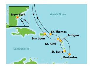 Norwegian Gem, Southern Caribbean ex New York Roundtrip