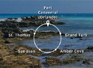 Mardi Gras, Eastern Caribbean ex Port Canaveral Return