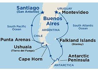 Coral, Antarctica & Cape Horn ex Buenos Aires to San Antonio