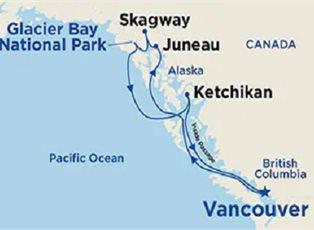 Sun, Inside Passage with Glacier Bay ex Vancouver Return