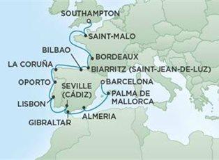 70fc3dde Explorer, Chateaux & Vineyards ex Southampton to Barcelona - EU West ...