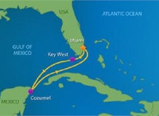 Empress, Key West & Cozumel ex Miami Return