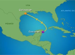Adventure, Western Caribbean Cruise ex Galveston Return