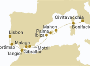 Royal Clipper Spain Morocco Ex Lisbon To Malaga