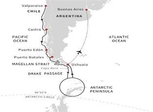 Fram, Antarctica Patagonia Chilean Fjords ex Valparaiso to Buenos Aires