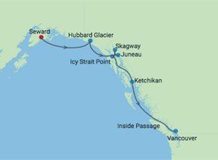 Millennium, Alaska Southbound Glacier Cruise ex Seward to Vancouver