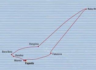 Regatta, Legends to Lagoons ex Papeete Return