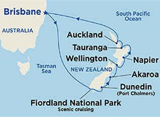 Sea, New Zealand Cruise ex Brisbane Return