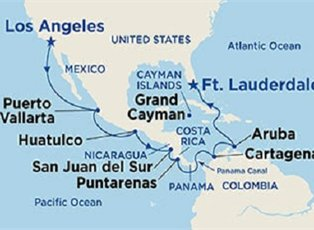 Emerald, Panama Canal Ocean To Ocean ex Los Angeles to Ft Lauderdale