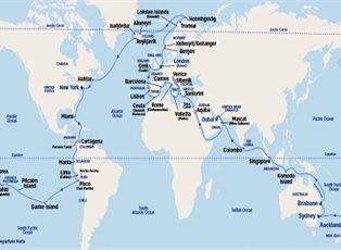 Sea, World Cruise 2020 Sector ex Dubai to Dover